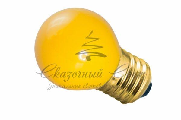 Лампа накаливания e27 10 Вт желтая колба 1