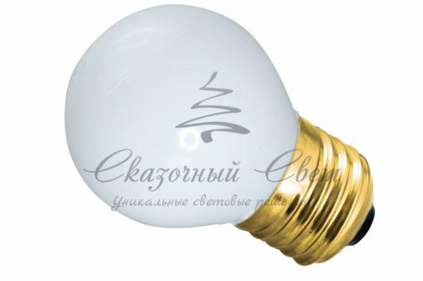 Лампа накаливания e27 10 Вт белая колба 1