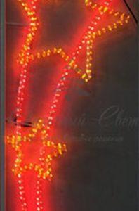 Светодиодная консоль Звезды , красно-желтая, Размер 0.65*1.5
