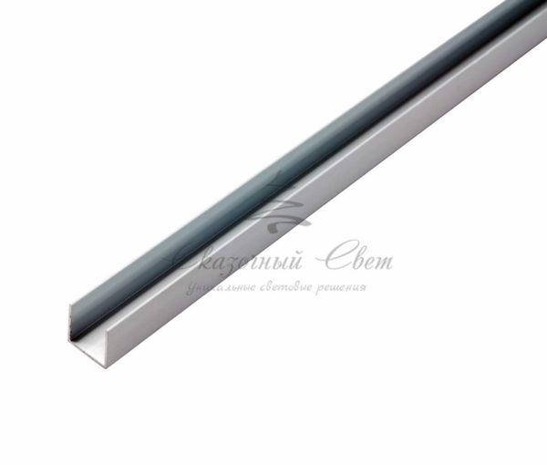 Короб алюминиевый для гибкого неона 15х26мм, длина 1 метр 2