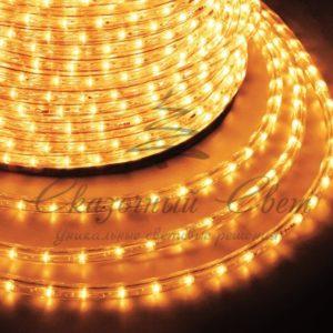 Дюралайт LED, постоянное свечение (2W) – желтый Эконом 24 LED/м , бухта 100м