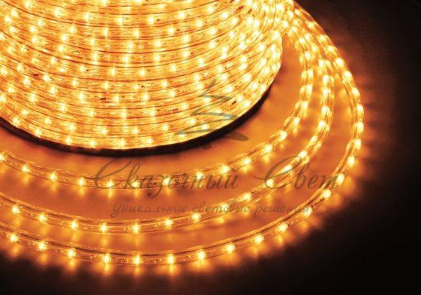 Дюралайт LED, постоянное свечение (2W) - желтый Эконом 24 LED/м , бухта 100м 2