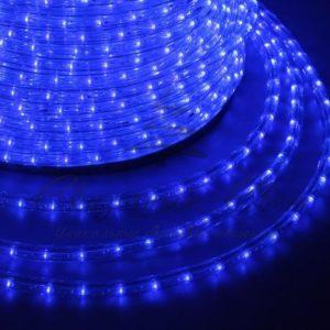 Дюралайт LED, постоянное свечение (2W) — синий Эконом 24 LED/м , бухта 100м