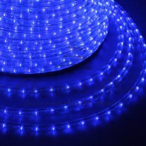 Дюралайт LED, постоянное свечение (2W) – синий, 24 LED/м, Ø10мм, бухта 100м