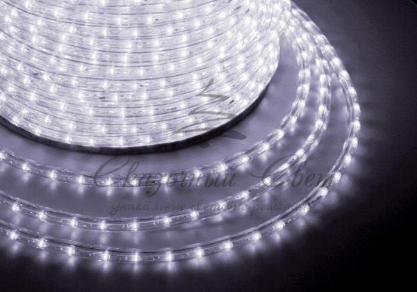Дюралайт LED, постоянное свечение (2W) - белый, 24 LED/м Ø10мм, бухта 100м 3