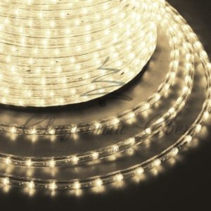 Дюралайт LED, постоянное свечение (2W) — теплый белый Эконом 24 LED/м , бухта 100м