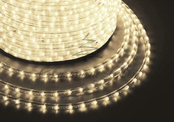 Дюралайт LED, постоянное свечение (2W) - теплый белый, 30 LED/м, бухта 100м 1