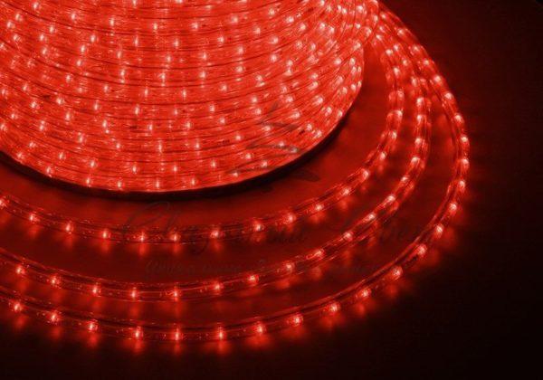 Дюралайт LED, эффект мерцания (2W) - красный, 36 LED/м бухта 100м 4