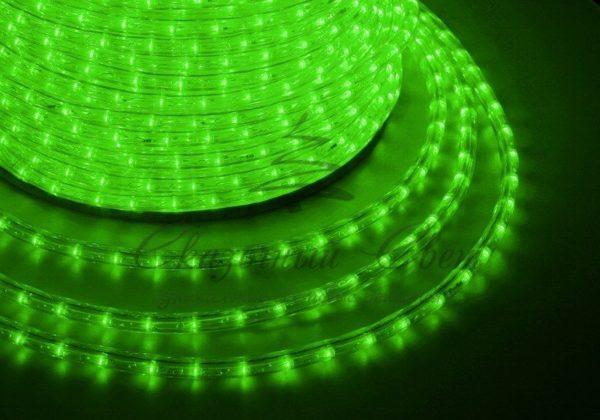 Дюралайт LED, эффект мерцания (2W) - зеленый, 36 LED/м, бухта 100м 3