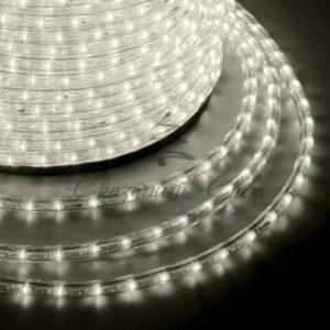 Дюралайт LED, эффект мерцания (2W) – теплый белый Эконом 24 LED/м , бухта 100м