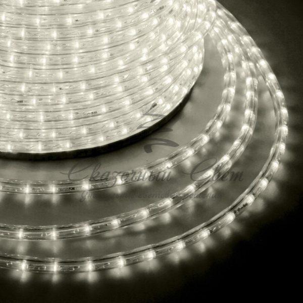Дюралайт LED, эффект мерцания (2W) - теплый белый Эконом 24 LED/м , бухта 100м 1