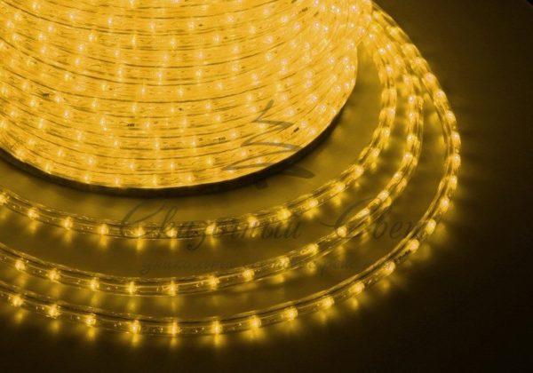 Дюралайт LED, свечение с динамикой (3W) - желтый, 36 LED/м, бухта 100м 3