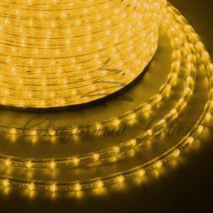 Дюралайт LED, свечение с динамикой (3W) – желтый, 24 LED/м, бухта 100м
