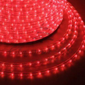 Дюралайт LED, свечение с динамикой (3W) – красный, 24 LED/м, бухта 100м