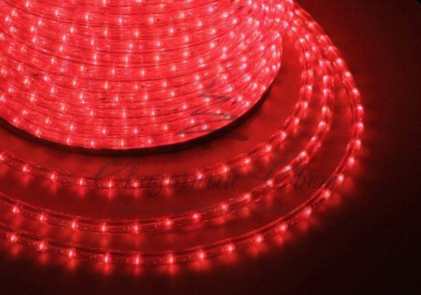 Дюралайт LED, свечение с динамикой (3W) - красный, 24 LED/м, бухта 100м