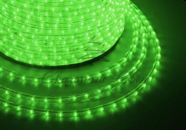 Дюралайт LED, свечение с динамикой (3W) - зеленый, 24 LED/м, бухта 100м 1
