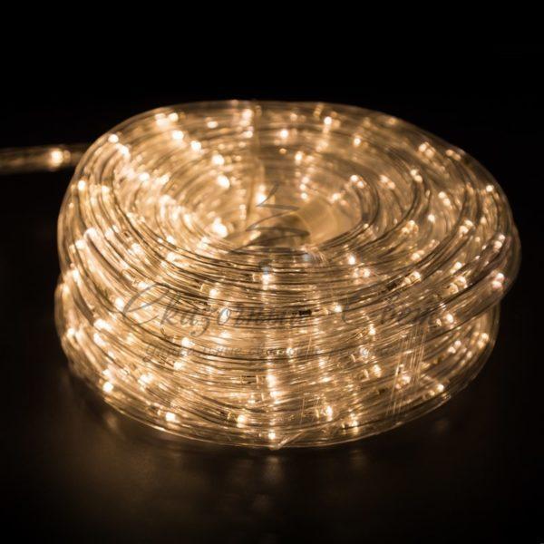 Дюралайт LED, свечение с динамикой (3W) - теплый белый, 24 LED/м, бухта 100м 1