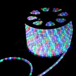Дюралайт LED, свечение с динамикой (3W) – мульти (RYGB), 30 LED/м, бухта 100м