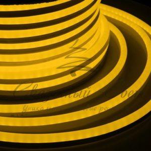 Гибкий Неон LED  – желтый, бухта 50м