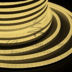 Гибкий Неон LED  – теплый белый, бухта 50м