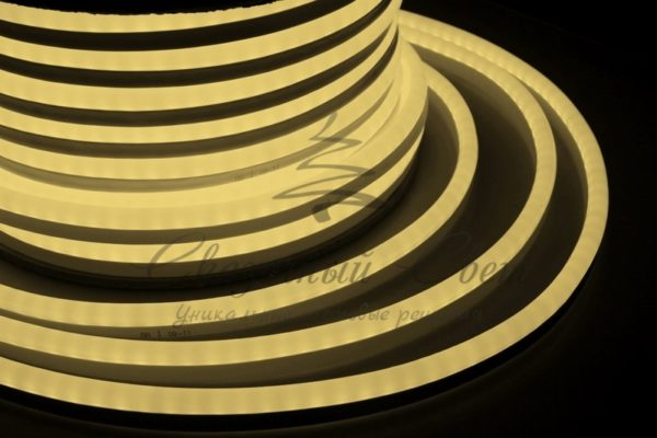 Гибкий Неон LED  - теплый белый, бухта 50м