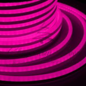 Гибкий Неон LED  — розовый, бухта 50м