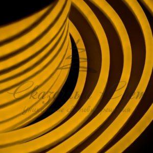 Гибкий Неон LED  — желтый, оболочка желтая, бухта 50м