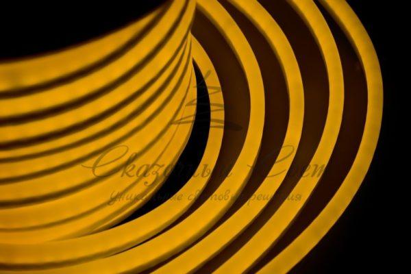 Гибкий Неон LED  - желтый, оболочка желтая, бухта 50м 2