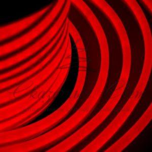 Гибкий Неон LED  – красный, оболочка красная, бухта 50м