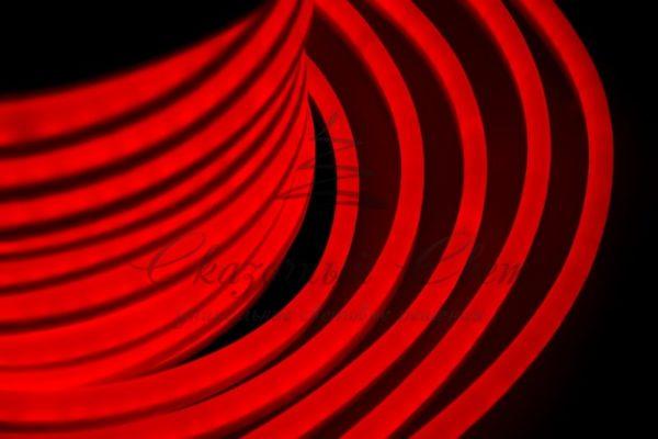 Гибкий Неон LED  - красный, оболочка красная, бухта 50м