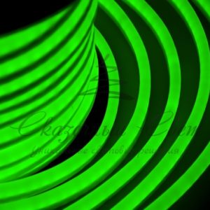 Гибкий Неон LED  — зеленый, оболочка зеленая, бухта 50м