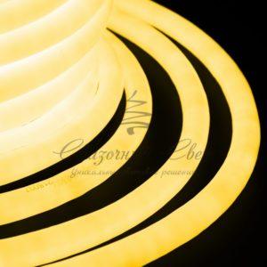 Гибкий Неон LED 360 (круглый) — желтый, бухта 50м