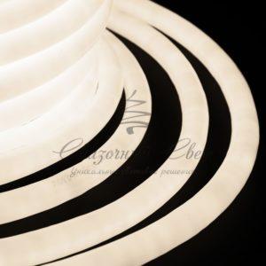 Гибкий Неон LED 360 (круглый) — теплый белый, бухта 50м