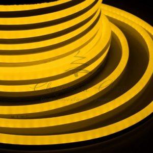 Гибкий Неон LED SMD, жёлтый, 120 LED/м, бухта 50м