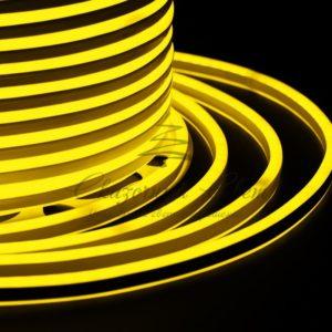 Гибкий Неон LED SMD, компактный 7х12мм, двусторонний, жёлтый, 120 LED/м, бухта 100м