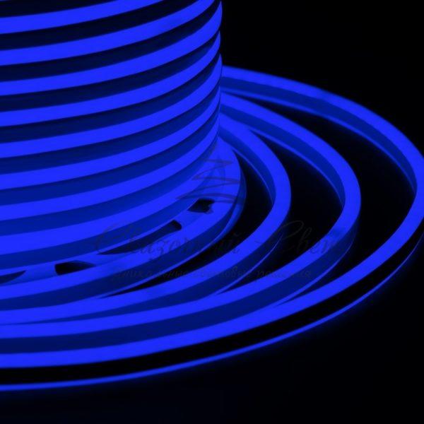 Гибкий Неон LED SMD, компактный 7х12мм, двусторонний, синий, 120 LED/м, бухта 100м