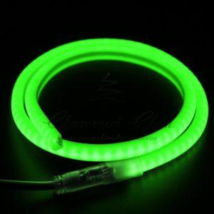 Гибкий Неон LED SMD, форма — D, зелёный, 120 LED/м,  бухта 100м