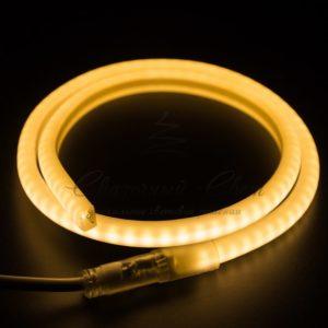 Гибкий Неон LED SMD, форма – D, тёплый белый, 120 LED/м,  бухта 100м