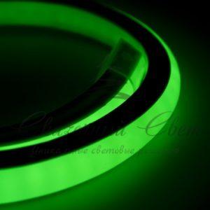 Гибкий Неон LED 360 (круглый) — зеленый, бухта 50м