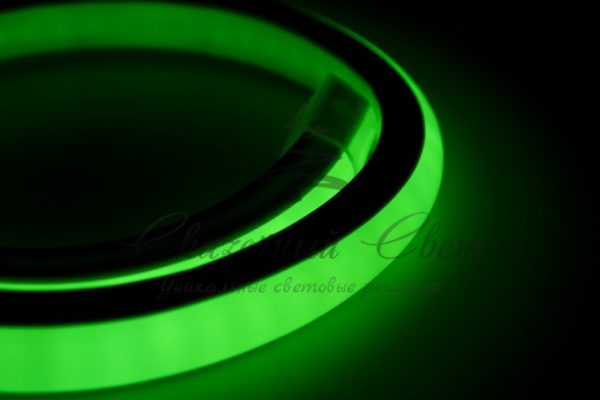 Гибкий Неон LED 360 (круглый) - зеленый, бухта 50м