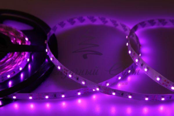 LED лента открытая, 8мм, IP23, SMD 2835, 60 LED/m, 12V, розовая, катушка 5 м