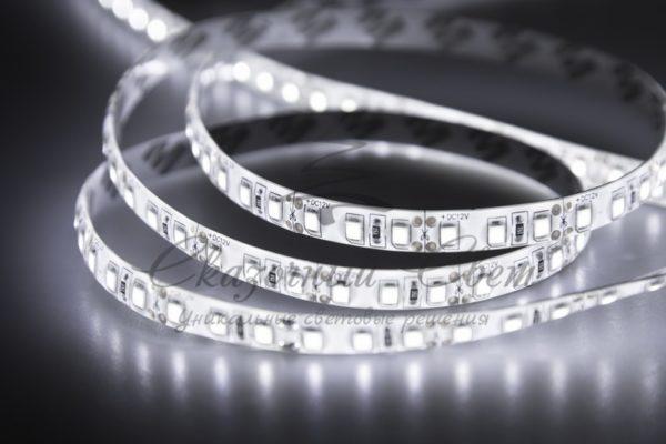 LED лента силикон, 8мм,  IP65, SMD 2835, 120 LED/m, 12V, белая, катушка 5 м