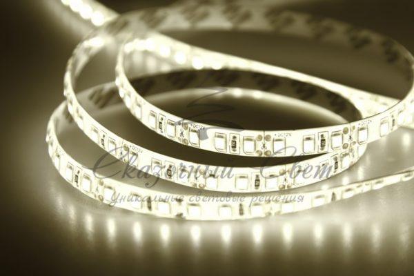 LED лента силикон, 8мм,  IP65, SMD 2835, 120 LED/m, 12V, тепло-белая, катушка 5 м