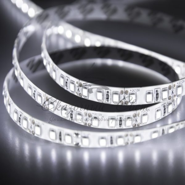 LED лента силикон, 10мм,  IP65, SMD 2835, 120 LED/m, 12V, белая, бухта 100м