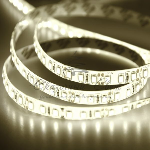 LED лента силикон, 10мм,  IP65, SMD 2835, 120 LED/m, 12V, тепло-белая, бухта 100м
