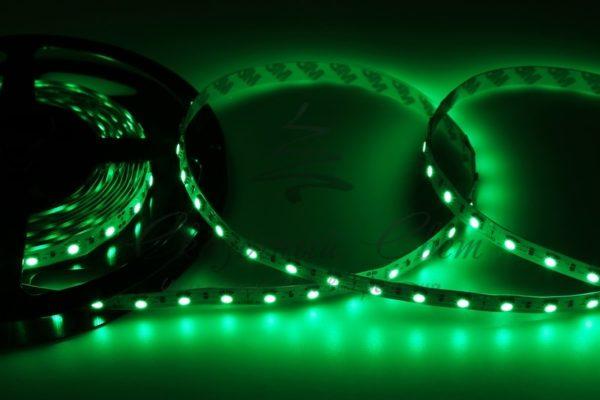 LED лента открытая, 10мм, IP23, SMD 5050, 60 LED/m, 12V, зеленая, катушка 5 м