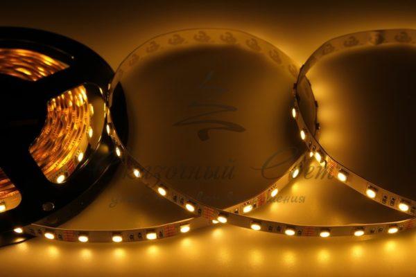 LED лента открытая, 10мм, IP23, SMD 5050, 60 LED/m, 12V, тепло-белая, катушка 5 м
