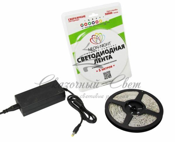 LED лента силикон, 10мм, IP65, SMD 5050, 60 LED/m, 12V, синяя, катушка 5 м 3