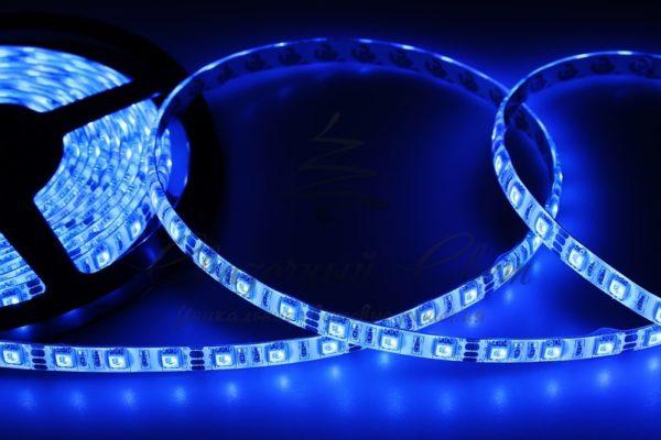 LED лента силикон, 10мм, IP65, SMD 5050, 60 LED/m, 12V, синяя, катушка 5 м