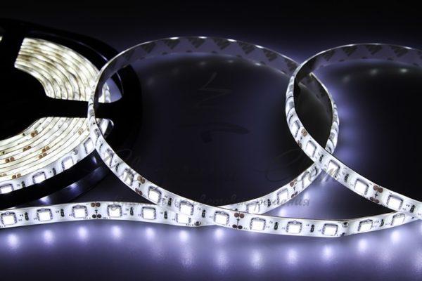LED лента силикон, 10мм, IP65, SMD 5050, 60 LED/m, 12V, белая, катушка 5 м
